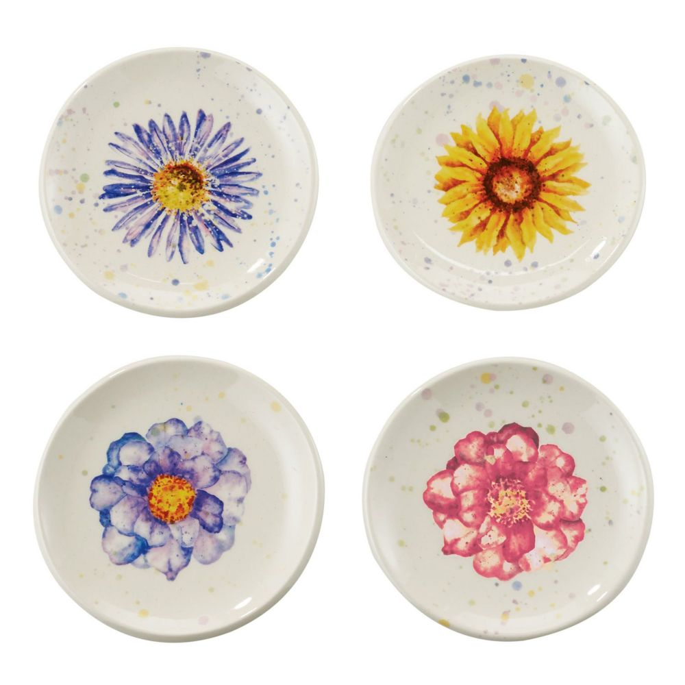 Department 56 Let It Bee™ Floral Summer Ceramic Tea Tidy 4050870 Set of 4